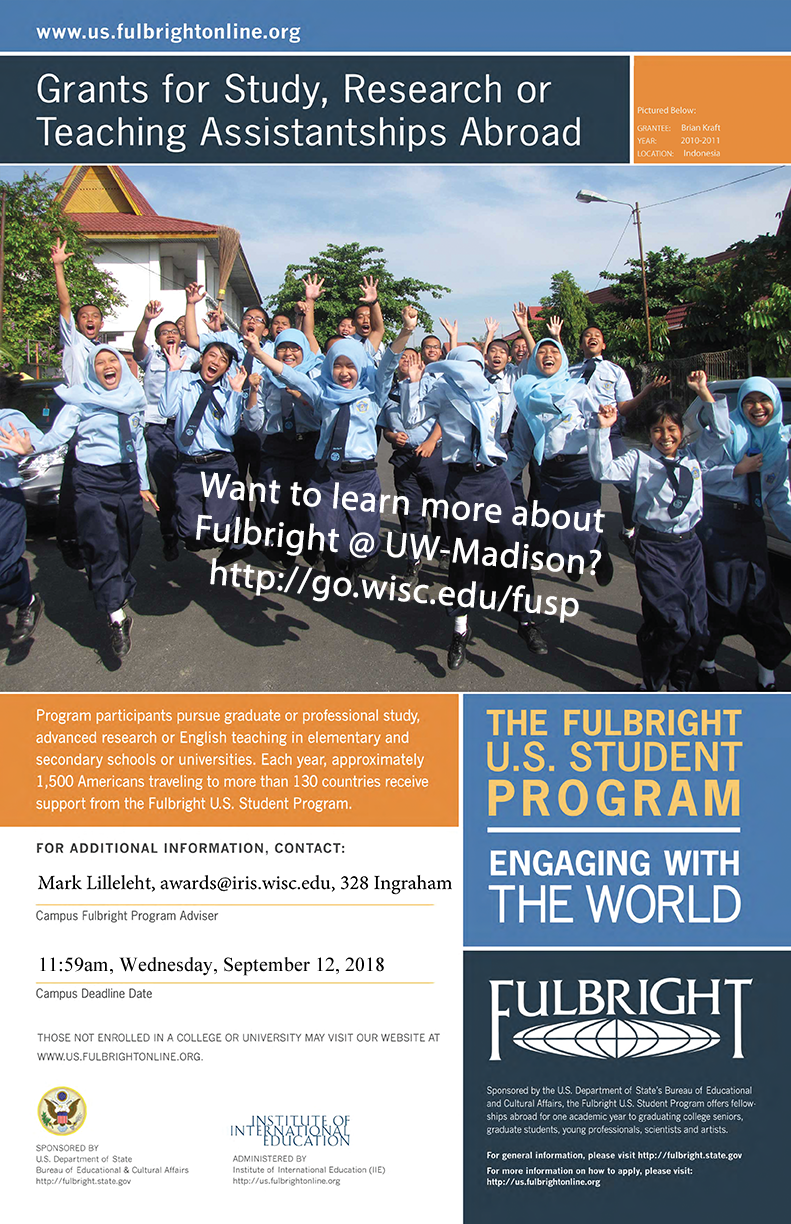 Fulbright US Student Program at UW-Madison