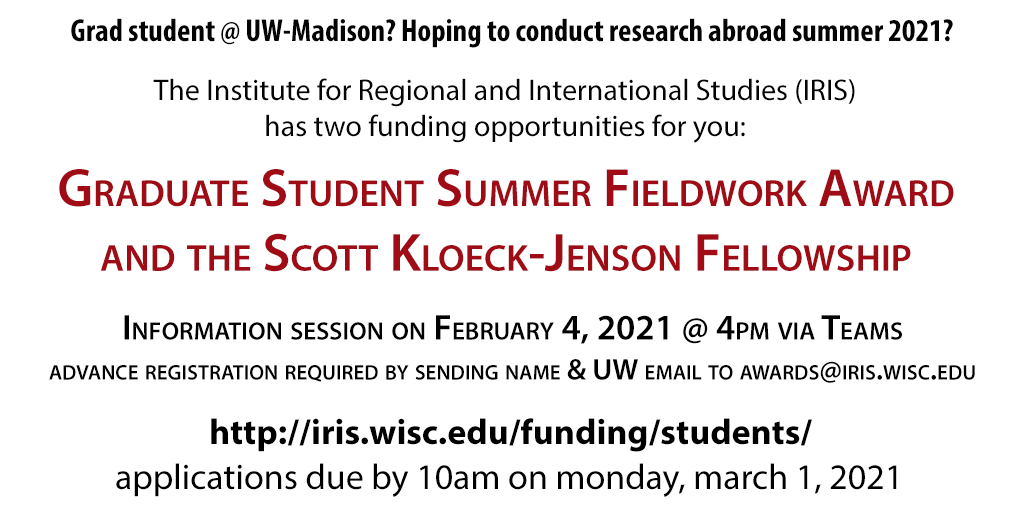 Fieldwork and SKJ 2021 competitions open and information session announced