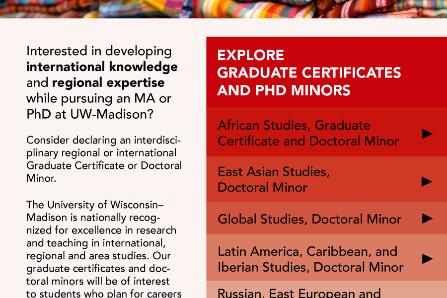 masters certificates and doctoral minors available from IRIS centers